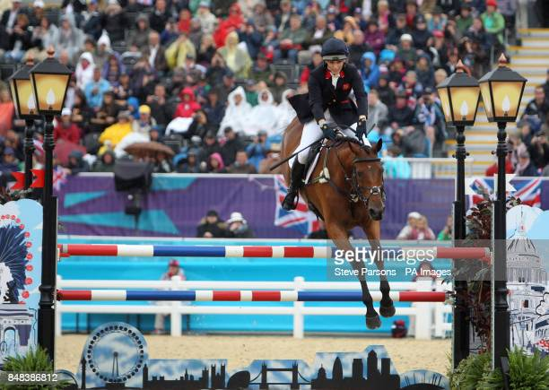 Great Britain's Zara Phillips on High Kingdom in the Individual Eventing Jumping Final on day four of the London Olympic Games at Greenwich Park...