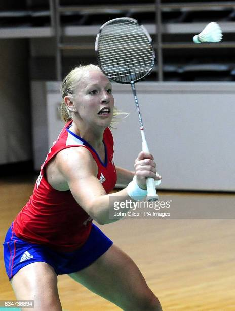 Great Britian's Badminton player Gail Emms during a training session in Macau China