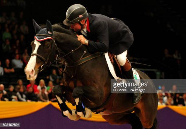 Great Britian's Geoff Billington on Pedro VI during the Grandstand Welcome Stakes during the Horse of the Year Show 2009 at the NEC in Birmingham