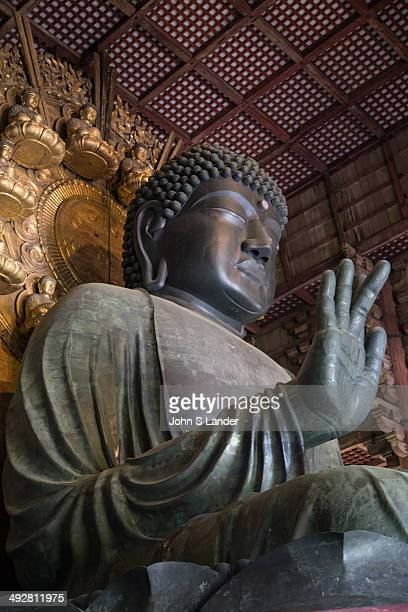 Great Buddha at Daibutsuden Todaiji Todaiji or the Eastern Great Temple in Nara the Great Buddha Hall Daibutsuden shelters the world's largest bronze...
