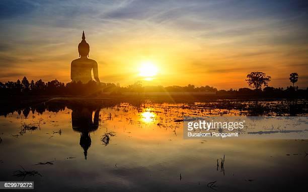 Great Buddha of Thailand, Buddha statue at Wat Muang, Ang Thong