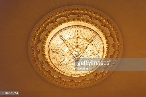 Great chandelier on ceiling : Stock Photo