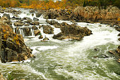 The Great Falls of the Potomac features rapids and cascades, just upriver from Washington DC