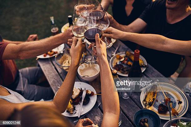 Great food and wine and friends to enjoy it all