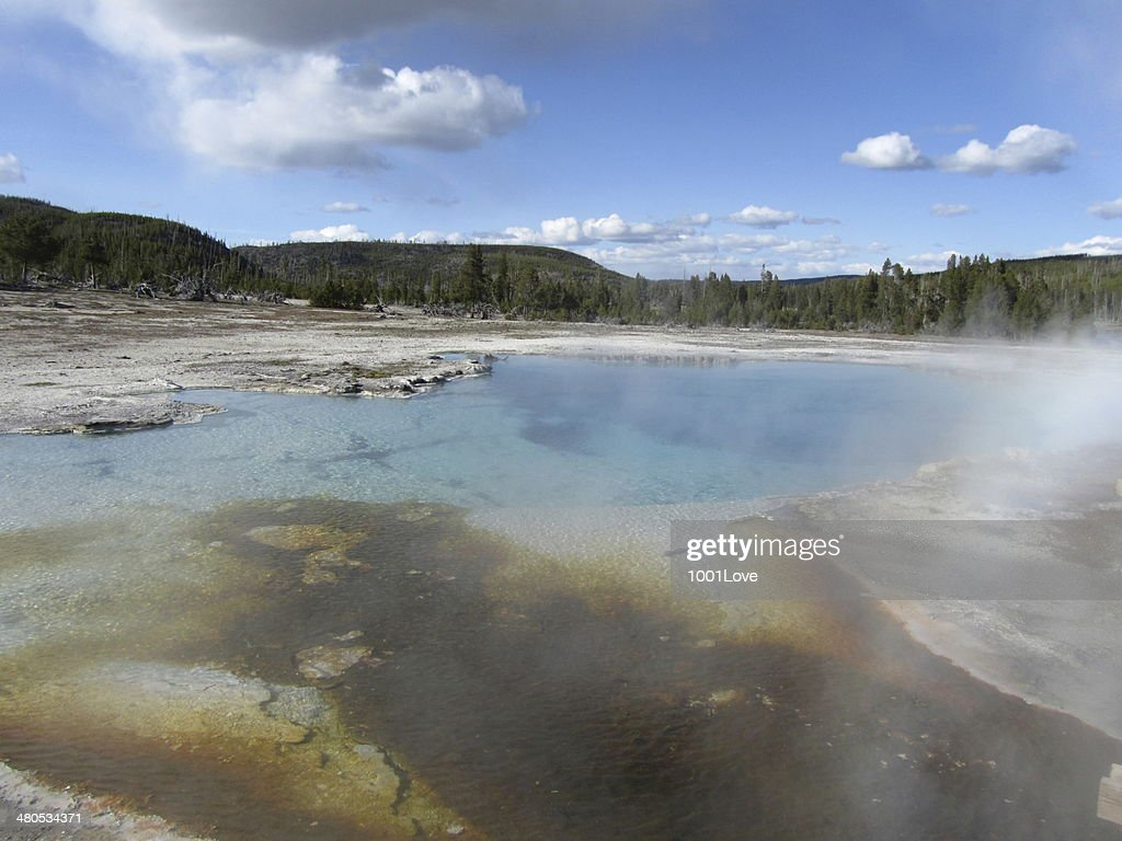 Great Fountain Geyser : Stock Photo