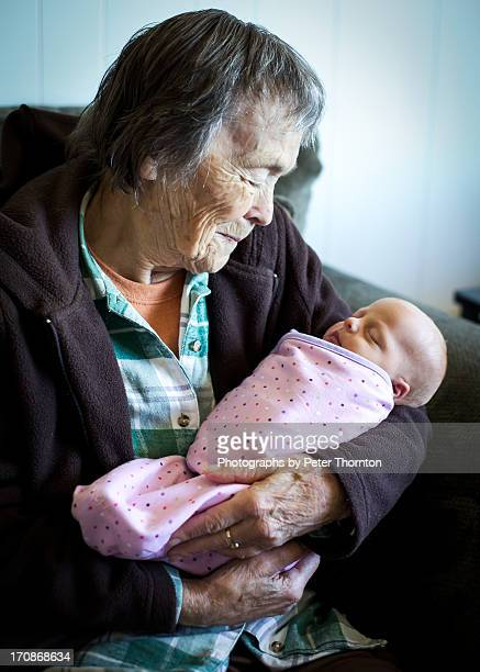 Great grandmother and newborn