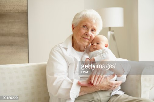 Great Grandmother Holding Great Grandson