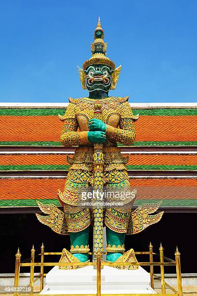 Great green giant door keeper at grand palace