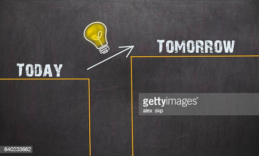 Great Idea Change Concept - Today and Tomorrow : Stock Photo