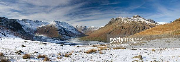 Great Langdale in winter, The Lake District, Cumbria UK