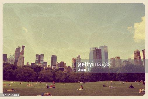 Great Lawn in Central Park - Vintage Postcard