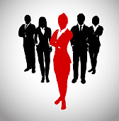 A team of Successful executives led by a strong and effective female leader.