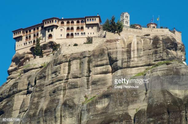 Great Meteoron Monastery, perched atop a huge rock of Meteora.