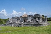 Great Palace of the ancient Mayan city of Tulum Yucatan Mexico