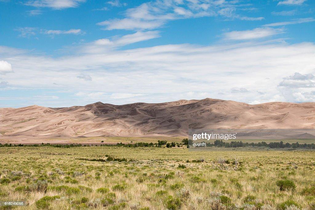 Parque nacional de Great Sand Dunes e preservar, Colorado : Foto de stock