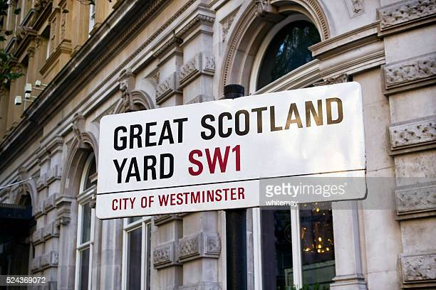 Great Scotland Yard - street sign in London