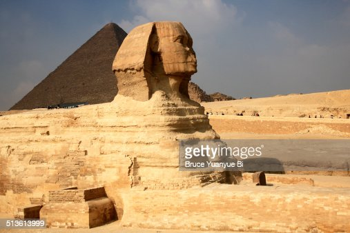 Great Sphinx and Pyramid of Khufu