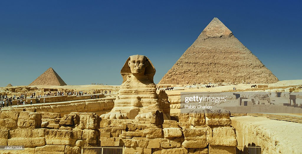 Great Sphinx and Pyramids