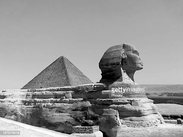 Great Sphinx of Giza B&W