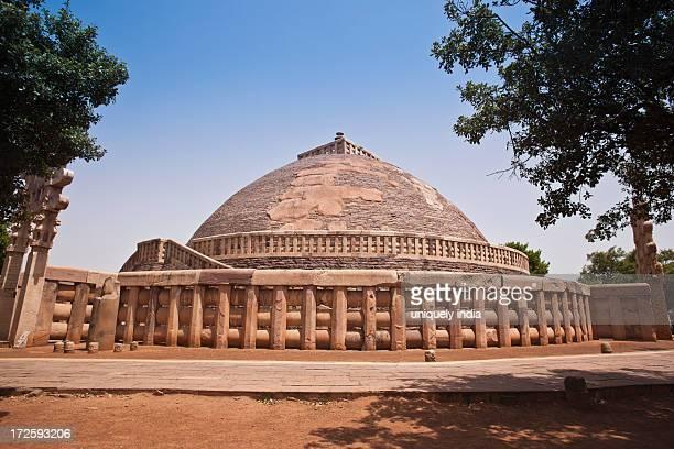 Great Stupa built by Ashoka the Great at Sanchi, Madhya Pradesh, India
