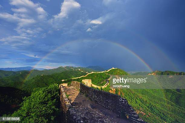 Great Wall and Double Rainbow