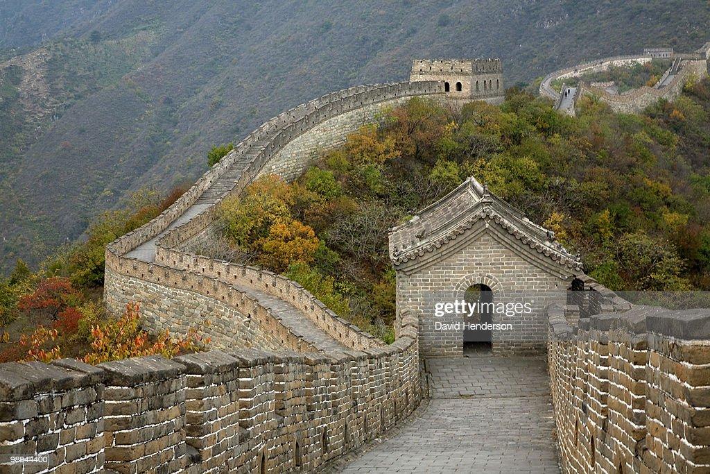 Great Wall of China at Mutianyu : Stock-Foto
