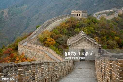 Great Wall of China at Mutianyu : Stock Photo