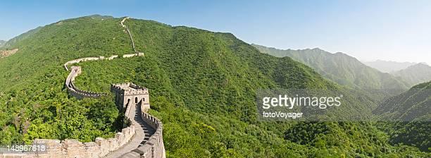Great Wall of China Mutianyu panorama