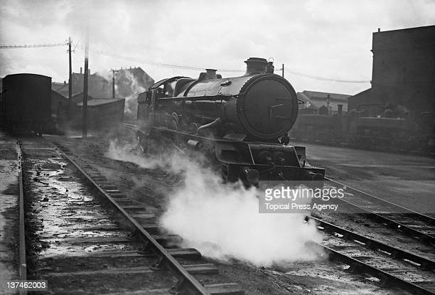 A Great Western Railway 6000 King Class steam locomotive at the GWR works in Swindon Wiltshire 20th April 1932