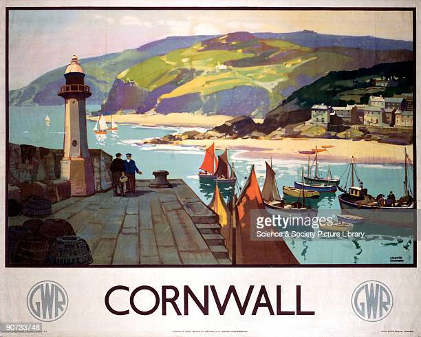 Great Western Railway poster showing a harbour scene Artwork by Leonard Richmond