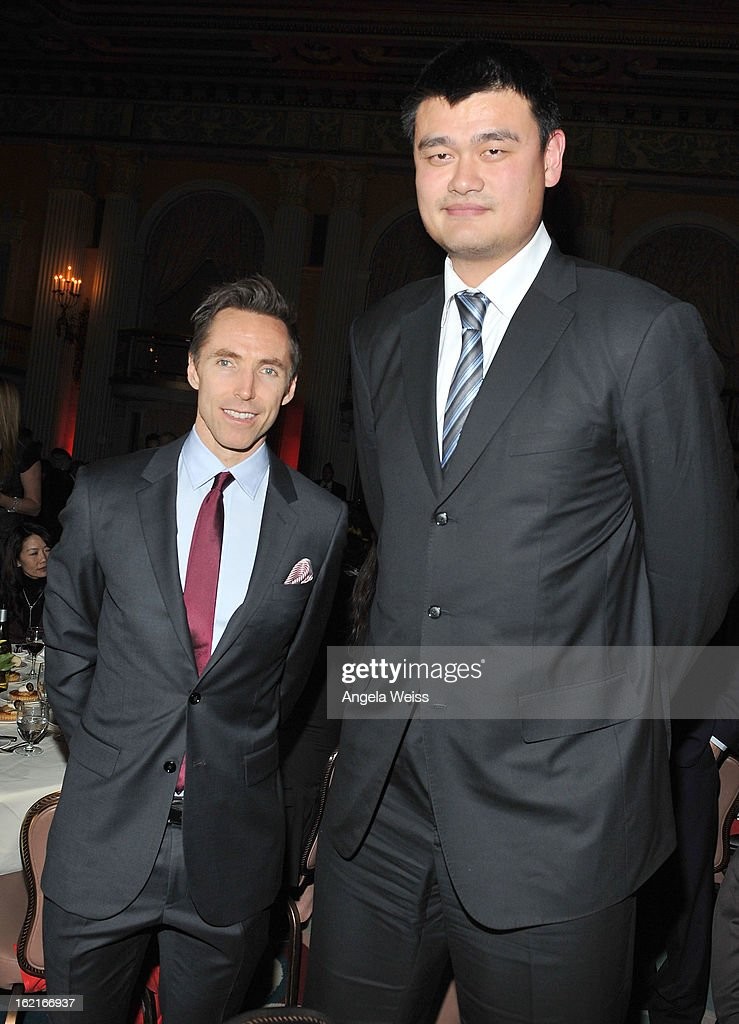 NBA Great <a gi-track='captionPersonalityLinkClicked' href=/galleries/search?phrase=Yao+Ming&family=editorial&specificpeople=201476 ng-click='$event.stopPropagation()'>Yao Ming</a> and NBA player <a gi-track='captionPersonalityLinkClicked' href=/galleries/search?phrase=Steve+Nash+-+Basketball+Player&family=editorial&specificpeople=201513 ng-click='$event.stopPropagation()'>Steve Nash</a> attend the Girard-Perregaux and Asia Society event honoring NBA Great <a gi-track='captionPersonalityLinkClicked' href=/galleries/search?phrase=Yao+Ming&family=editorial&specificpeople=201476 ng-click='$event.stopPropagation()'>Yao Ming</a> with <a gi-track='captionPersonalityLinkClicked' href=/galleries/search?phrase=Steve+Nash+-+Basketball+Player&family=editorial&specificpeople=201513 ng-click='$event.stopPropagation()'>Steve Nash</a> at Millennium Biltmore Hotel on February 19, 2013 in Los Angeles, California.