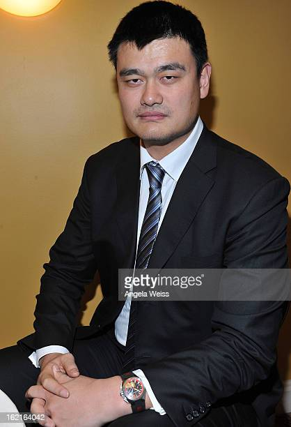 Great Yao Ming attends the GirardPerregaux and Asia Society event honoring NBA Great Yao Ming with Steve Nash at Millennium Biltmore Hotel on...