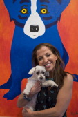 CBS' Greatest American Dog judge Wendy Diamond and her canine companion Lucky Diamond attend the Katrina Pet Memorial Benefiting the Humane Society...