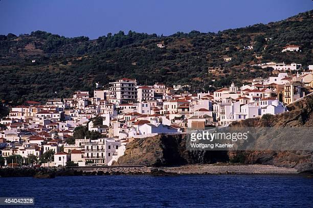 Greece Aegean Sea Skopelos View Of Village
