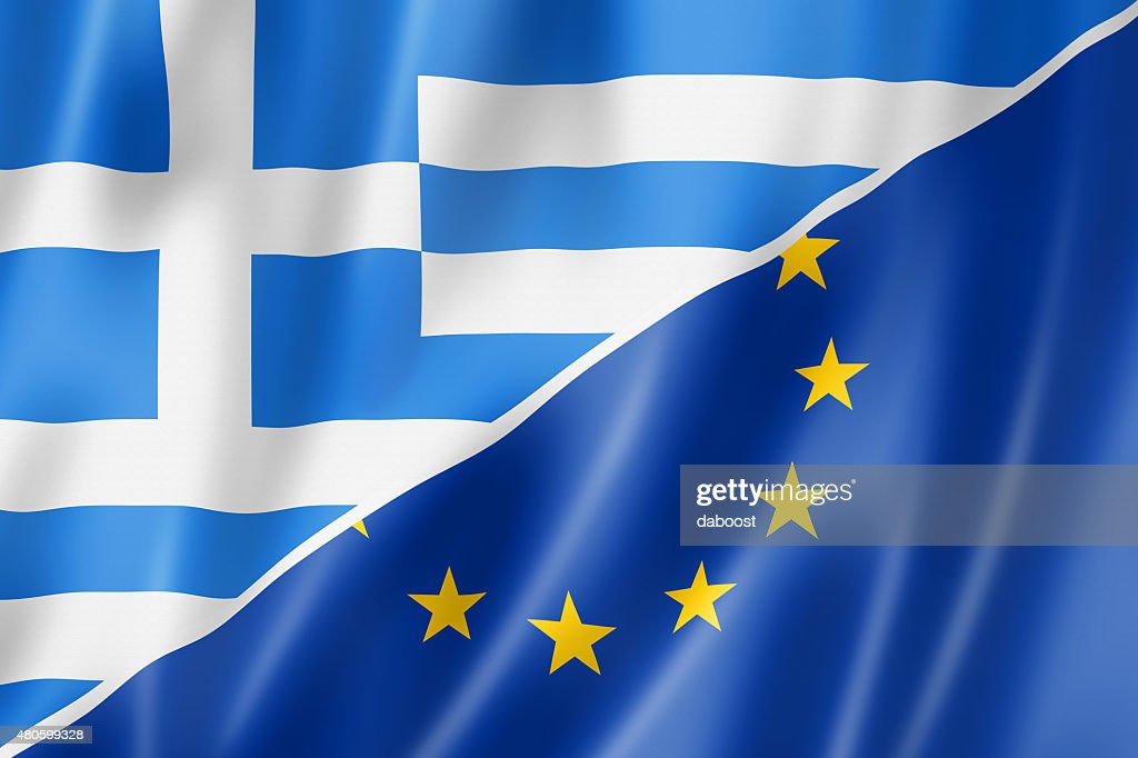 Greece and Europe flag : Stock Photo