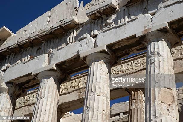 Greece, Athens, Acropolis, Parthenon, close-up of tympanum