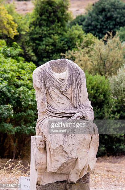 Greece, Athens, old statue on Agora