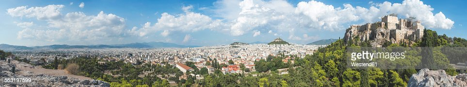 Greece, Athens, Panorama with Parthenon