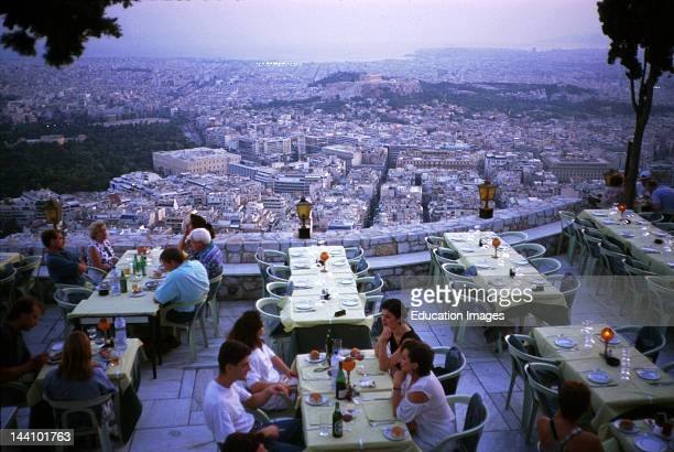 Greece Athens View From Restaurant On Mount Lycabettus