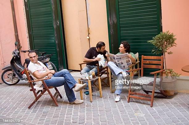 Greece Chania Crete Outdoor Cafe