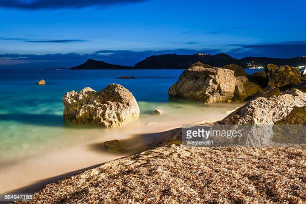 Greece, Corfu, Agios Georgios bay in the evening