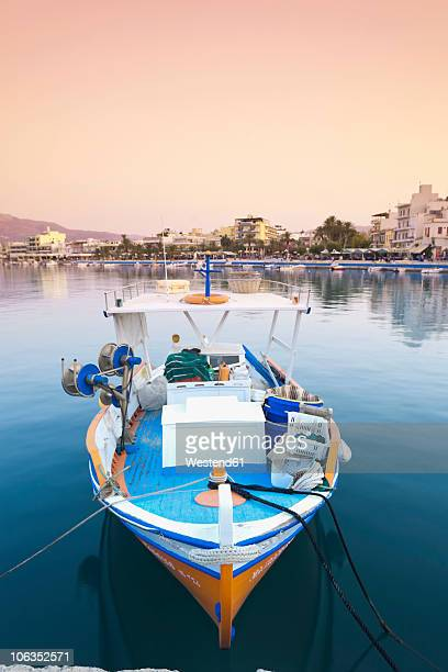 Greece, Crete, Sitia, View of boat at harbour
