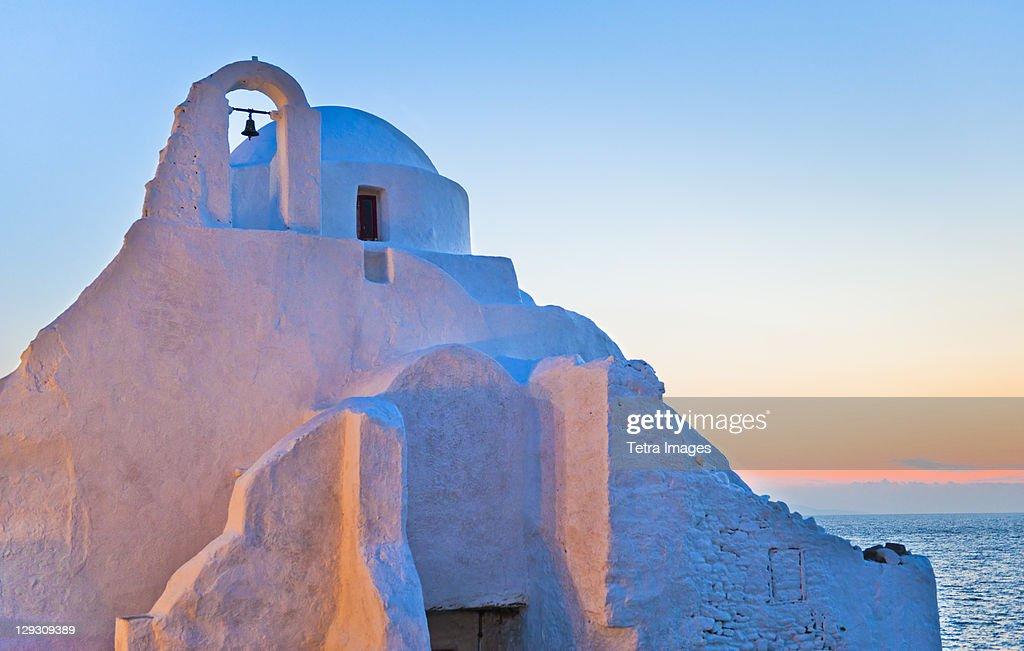 Greece, Cyclades Islands, Mykonos, Chora, Church of Panagia Paraportiani