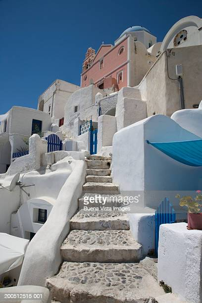 Greece, Cyclades, Santorini, Oia, street scene