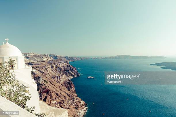 Greece, Cyclades, Santorini, Thera, view to caldera