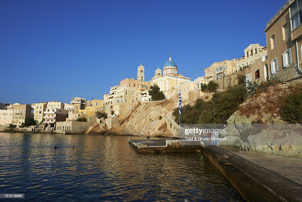 Greece, Cyclades, Syros, Ermoupoli, : Stock Photo