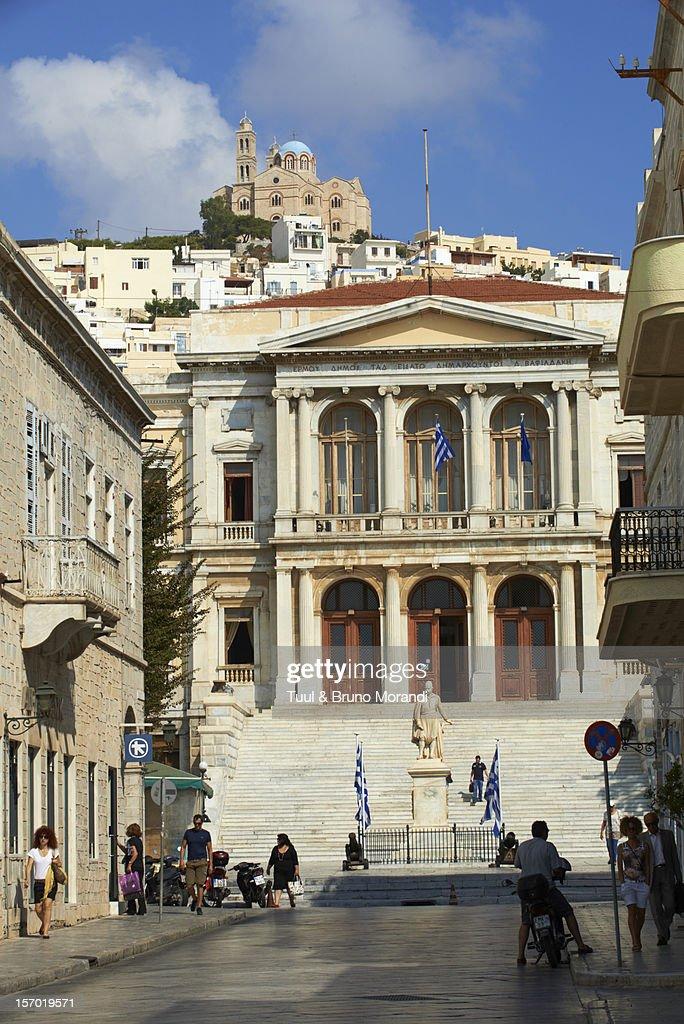 Greece, Cyclades, Syros, Ermoupoli, Town Hall