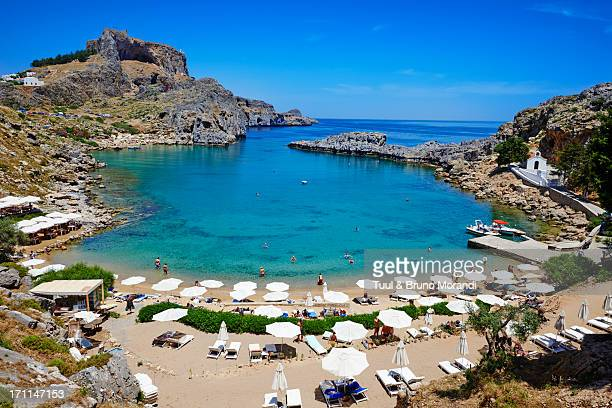 Greece, Dodecanese, Rhodes, Lindos, St. Paul beach