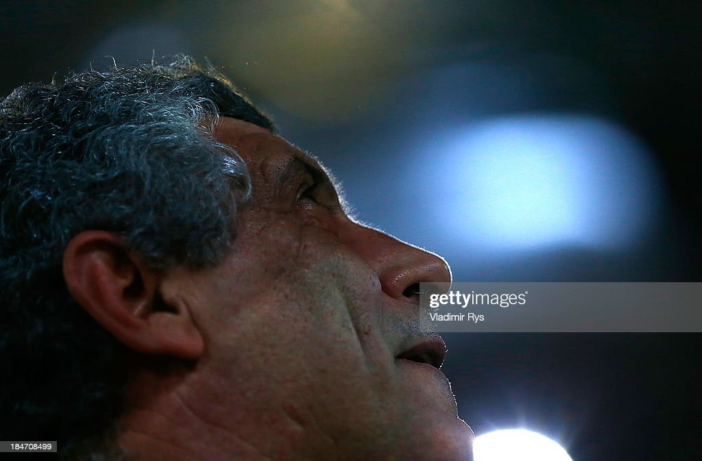 Greece head coach Fernando Santos looks on ahead of the group G FIFA 2014 World Cup Qualifier match between Greece and Liechtenstein at Karaiskakis Stadium on October 15, 2013 in Athens, Greece.