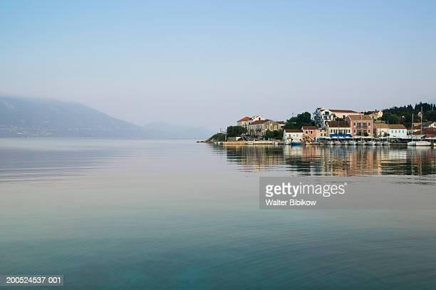 Greece, Ionian Islands, Kefalonia, Fiskardo, view towards Ithaki